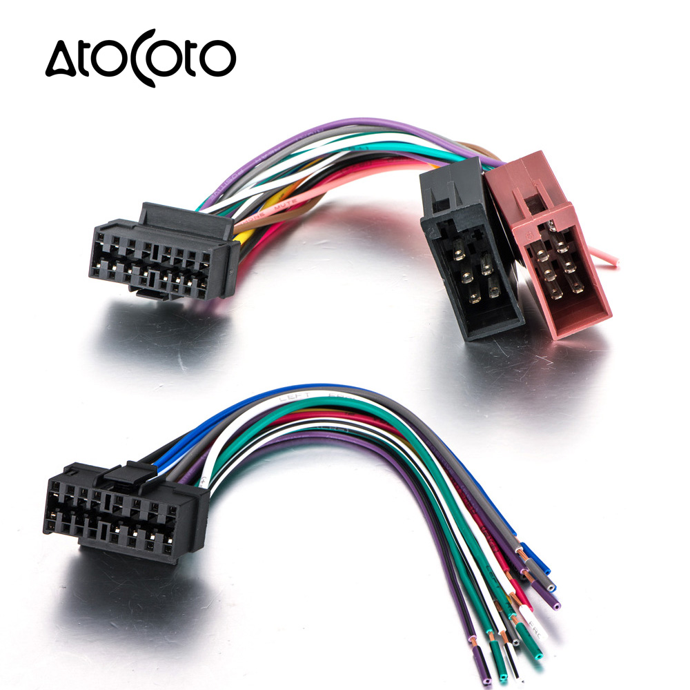 car cd radio audio stereo iso standard wiring harness connector wire rh aliexpress com Sony Xplod Wiring Harness Sony 16 Pin Wiring Harness Diagram