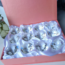 12pcs/box 30mm Beautiful k9 Clear Crystal wedding brilliant Diamond, b