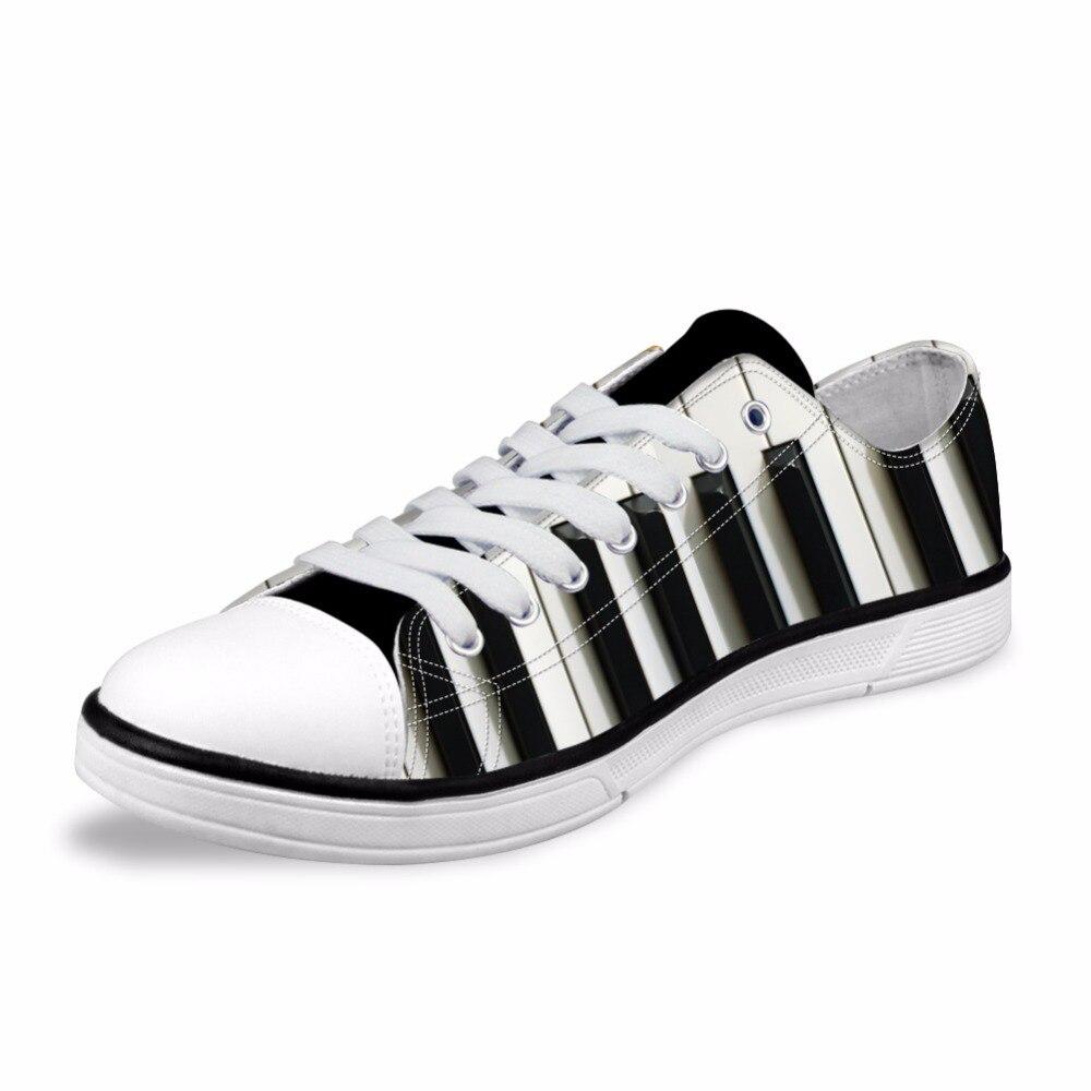Personnalisé Classique Bas Style Hommes Vulcaniser Chaussures 3D Piano Imprimé décontracté Baskets homme décontracté Chaussures de Toile pour Les Garçons Adolescents Mâle