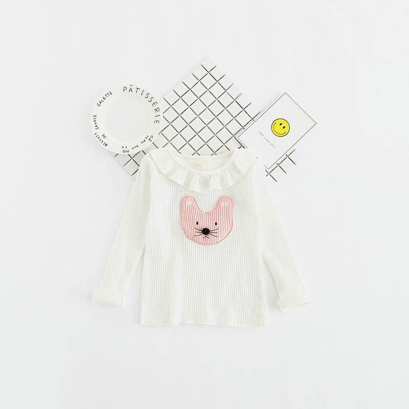 Krótka letnia koszulka dla dziewczynki letnie Długie rękawy - Ubrania dziecięce - Zdjęcie 4