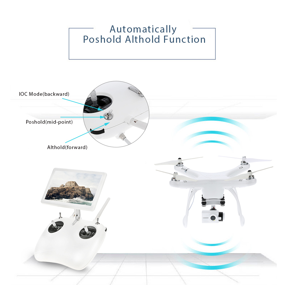 Professional Drone with Camera FPV Altitude Hold One Key Return RC Quadcopter with 4K 1080P HD Camera Drone Quad Aerial Dron (6)