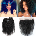Peruvian Virgin Hair 3 Bundles Peruvian Kinky Curly Virgin Hair with Frontal Peruvian Kinky Curly Hair Bundles Kinky Curly