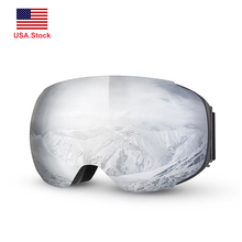 Snowmobile Eyewear Ski Goggles Anti-fog Mask Double Layers UV400 Protection Skiing Skating Detachable Glasses Snowboard