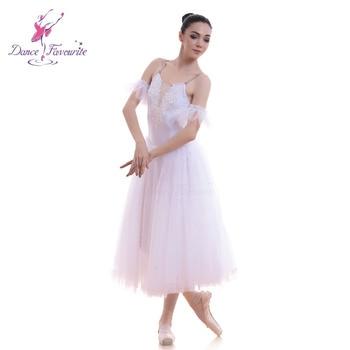 18565 Dance Favourite White Romantic Ballet Tutu Stage Performance Ballet Costumes Ballerina Long Tutu