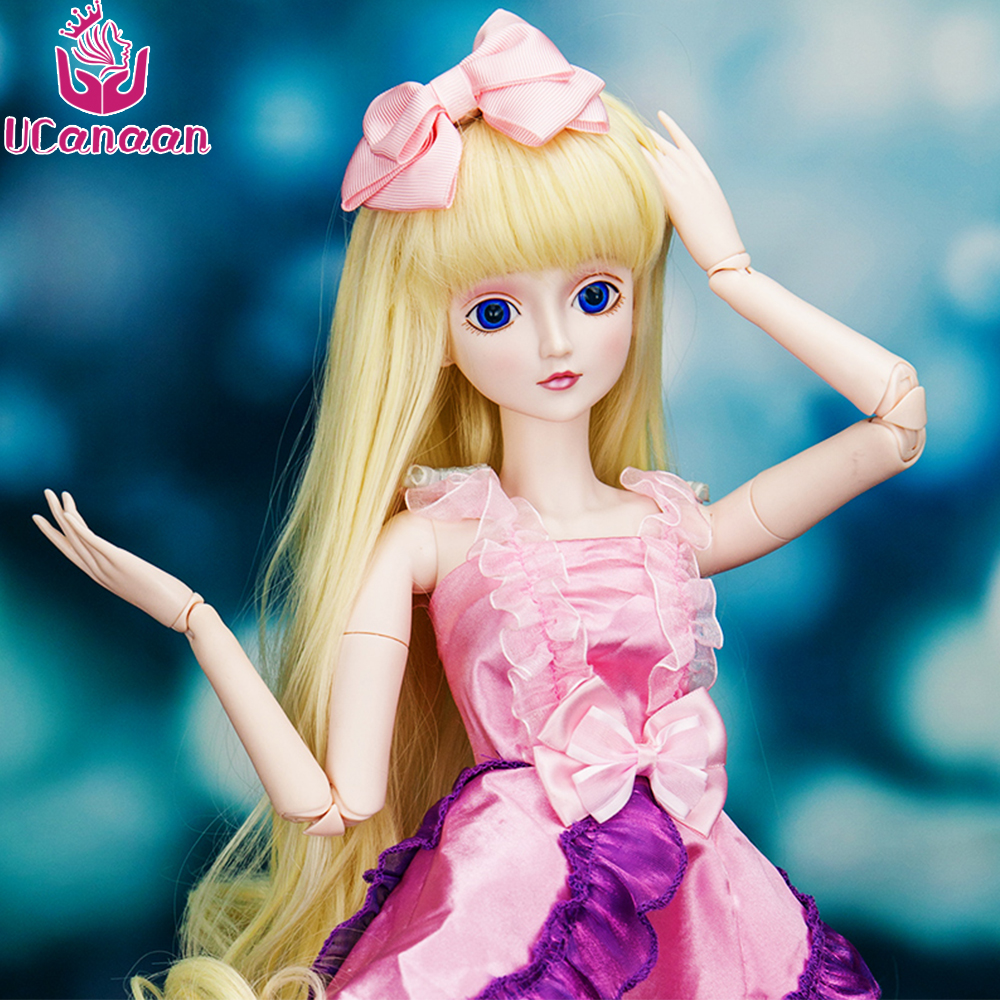 Ucanaan 1/3 Large BJD/SD 19 Jonts Rotated Fairyland Model Reborn Baby Girls Boys Dolls High Quality Toys Make Up Anime Gift 1 3 1 4 1 6 1 8 1 12 bjd wigs fashion light gray fur wig bjd sd short wig for diy dollfie