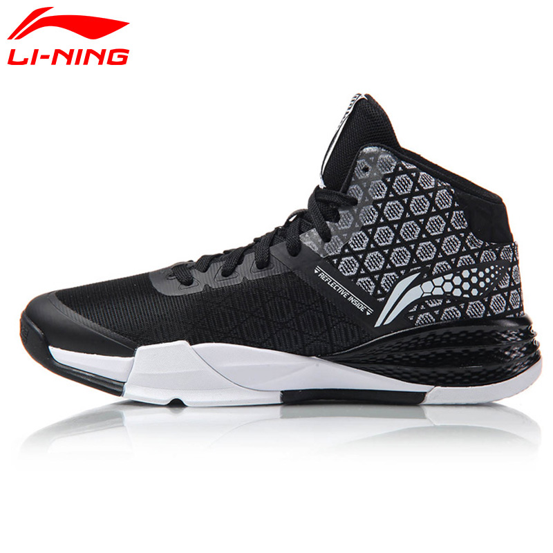 Li Ning Original Men's STORM On Door Basketball Shoes LiNing Cloud Breathable Cushioning Sneakers Sports Shoes ABFM005 li ning men s fission iii wade professional basketball shoes lining cloud sneakers breathable sports shoes abam025 xyl109