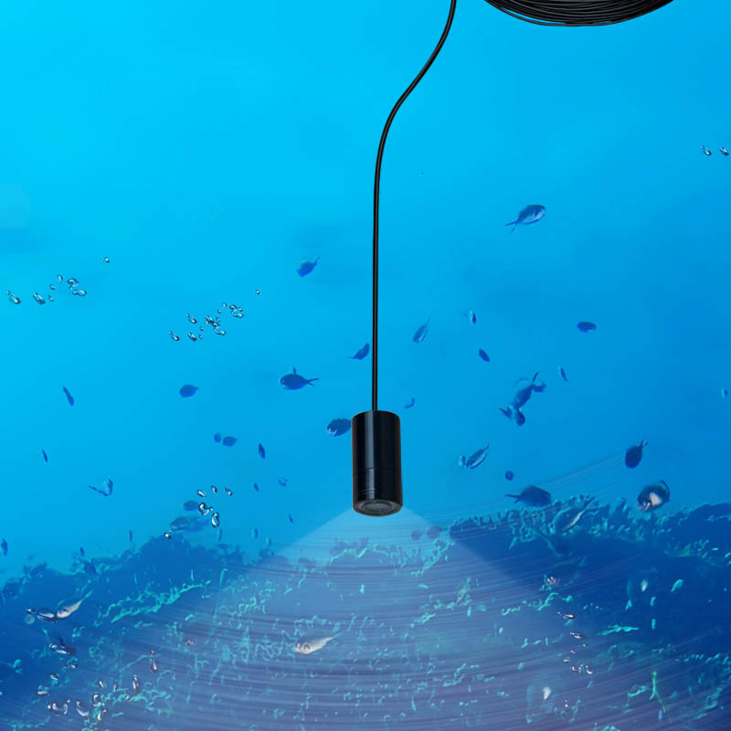 Free Shipping 25m 90 Deg Mini Underwater Fish Finder Waterproof Video Security Camera With 8 LED  Lamps