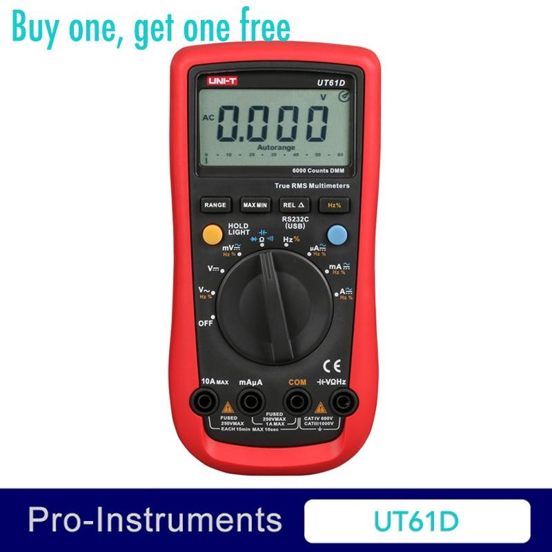 UNI-T UT61D Modern Digital Multimeters RMS RS232 REL AC DC Amperemeter 22000 Count Auto Range Test Meter мультиметр uni t uni t ut61d true rms rs232 rel uni t 61d