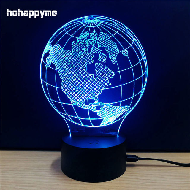 earth map globe neon acrylic led sign 3d light bar pub bedroom cafe desktop decoration plaque