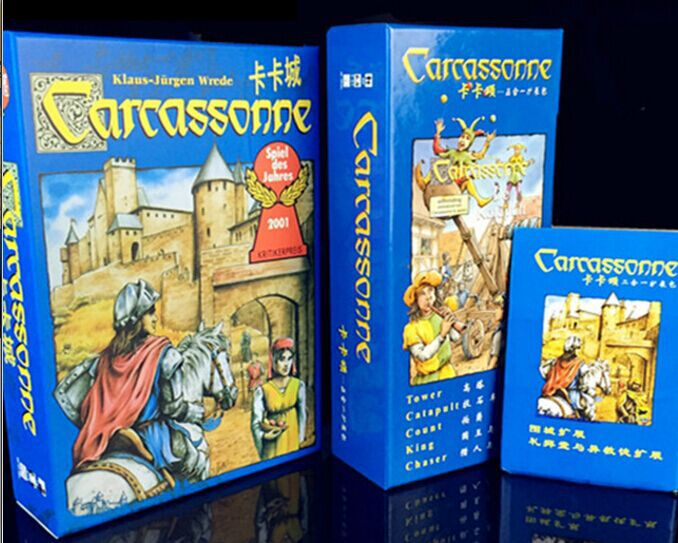 English Carcassonne Basic, 6 Expansion The River/Tower/Catapult/Count/King/Chaser Board Game Card Game English Party Game stephen king gerald s game