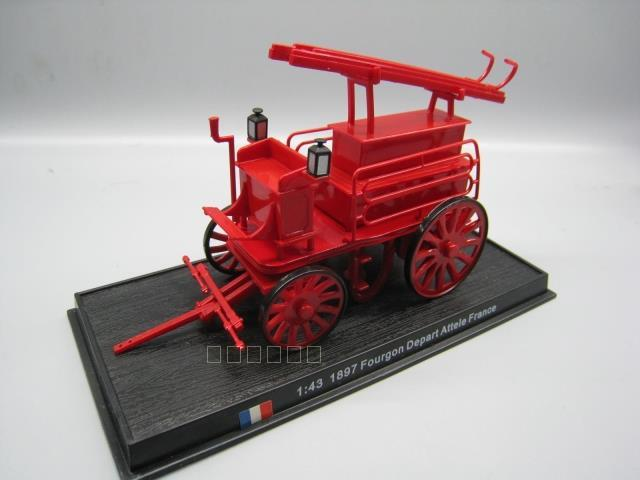 AMER 1/43 Scale 1897 FOURGON DEPART ATTELE FRANCE Fire Engine Diecast Metal Car Model Toy For Gift/Collection
