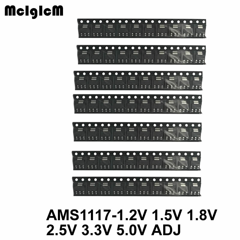 2500pcs AMS1117 Voltage Regulator Kit 1 2V 1 5V 1 8V 2 5V 3 3V 5