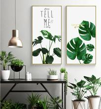 Hot Sale Nordic Plant 2 Pieces/Set Print Poster Unframed Painting Canvas Art HD Picture Living Room Decor Best Gift