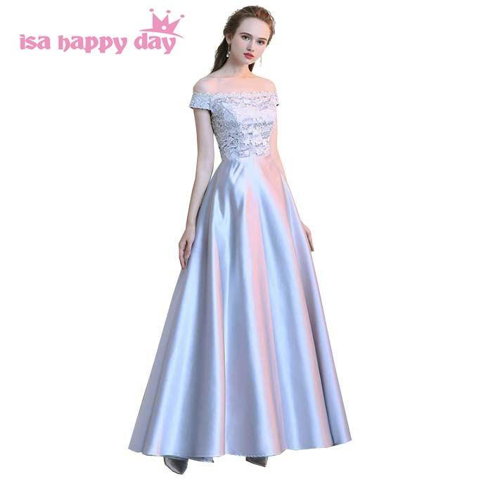Long Light Gray Modest Simple Elegant Modern Fashion
