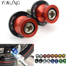 New 8mm Motorcycle Red CNC Aluminum Swingarm Spools Slider For Honda CBR 600 954 1000 RR CBR 600 F2,F3,F4,F4i CBR650F/CB650F swingarm spools slider for honda cb650f cbr650f cb cbr 650f 2014 2018 15 16 17 motorcycle accessories stand screw cnc aluminum