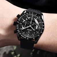 BENYAR Men Waterproof Chronograph Quartz Sport Watch Fashion Business Wrist Watch Clock Male Luxury Watch Relogio Masculino