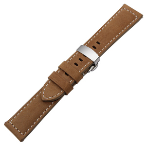 Image 3 - Italy Genuine Leather Watchband 22mm 20mm for Samsung Galaxy Watch 46mm 42mm Quick Release Band Steel Butterfly Clasp Belt Strap