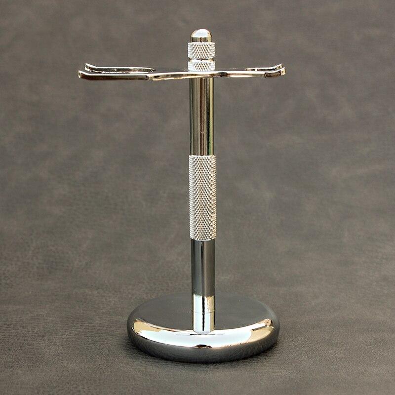 Men Razor Holder Stainless Shaving Brush Stand Safety Razor Razor Holder 15.2cm long size Razor & Brush not including 4