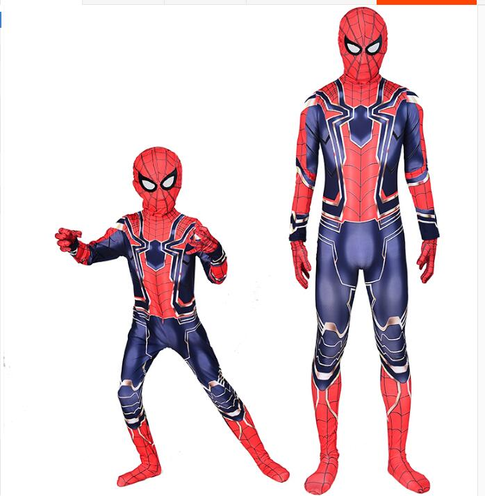 VEVEFHAUNG Avengers Infinity War Iron Spiderman T shirt Cosplay Peter Parker Superhero Spiderman Tee Shirts Man Tops costumes