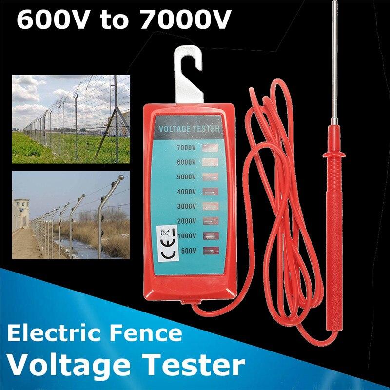 Digital Electric Fence Voltage Tester 600-7000V Voltage Power Current Testing