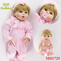 New bebes reborn girl princess dolls 57cm full silicone reborn baby dolls real ture newborn baby alive doll gift can bathe