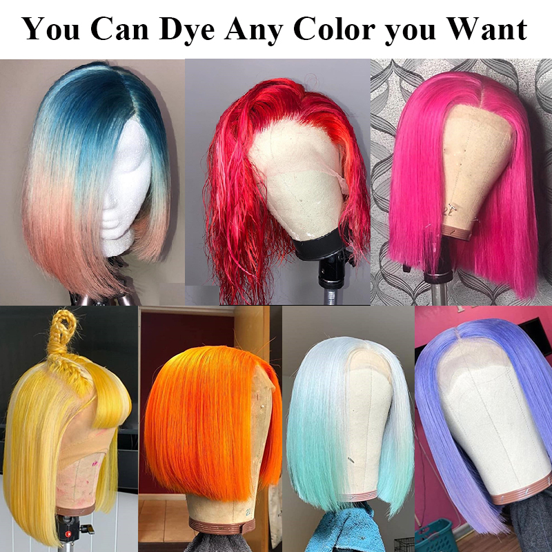 613 Blonde Lace Front Wig Short Bob Wig Straight Lace Front Human Hair Wigs Pre Plucked With Baby Hair For Women Remy Mydiva-in Human Hair Lace Wigs from Hair Extensions & Wigs    2