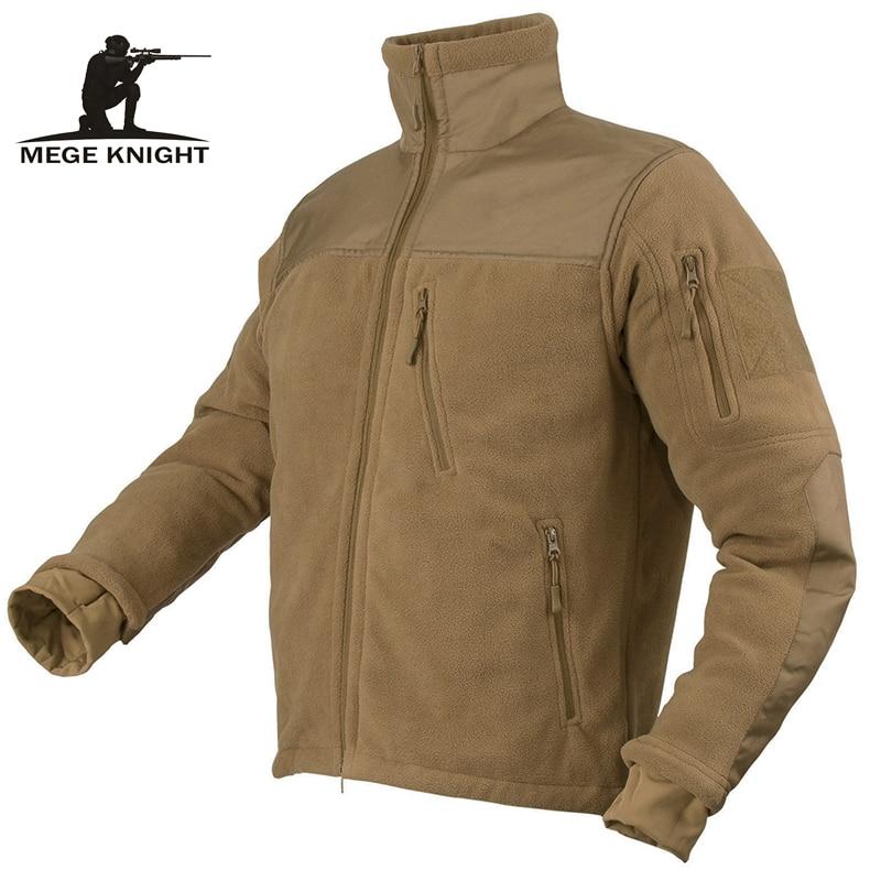 Mege Brand Autumn Winter Tactical Military Clothing Army Combat Men's Jacket Warm Polartec Fleece Patchwork Male Frock Jacket