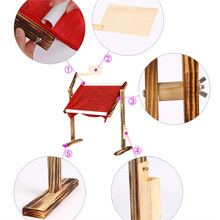 Adjustable Solid Wood Cross Stitch Rack Wooden Stand Desktop Embroidery Frame Chinese Tool