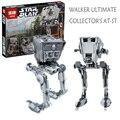 Лепин 05052 1068 Шт. Звездные Войны УОКЕР ULTIMATE COLLECTOR AT ST Строительные Блоки Кирпичи Модель 10174 Подарок Совместимость С Lego 75153