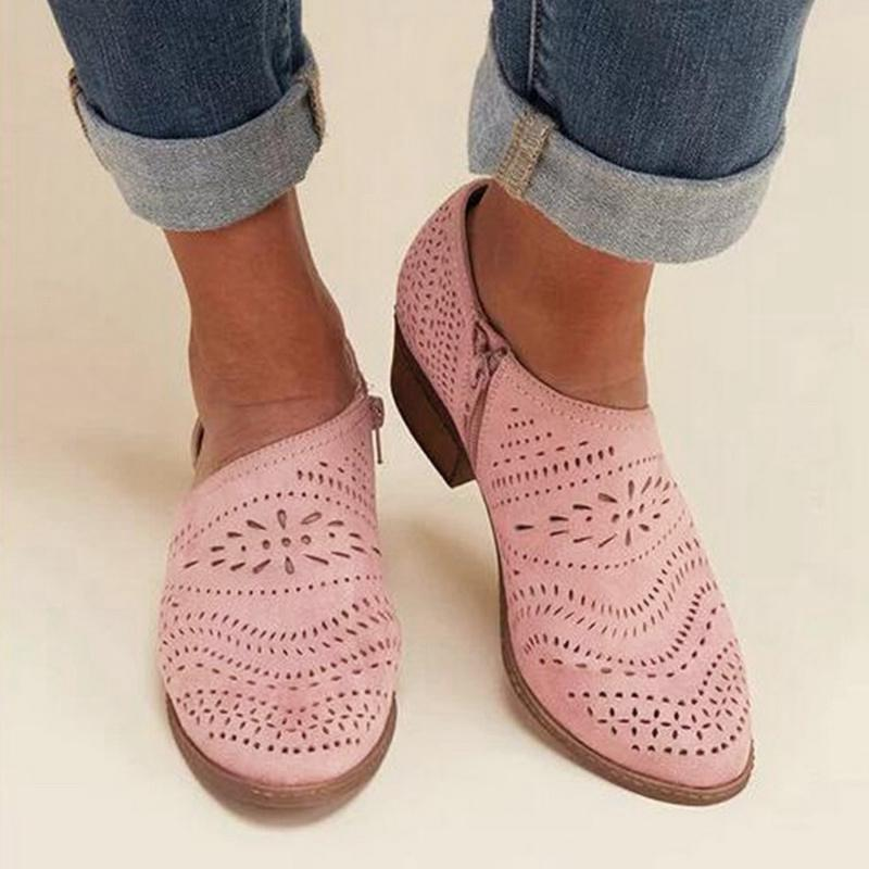 vertvie Style Girls Flat Sneakers Breathable Stable Pointed Toe Hole Out Design Roman Sneakers Stable Feminine Footwear Chaussures Girls's Flats, Low cost Girls's Flats, vertvie Style Girls Flat Sneakers...