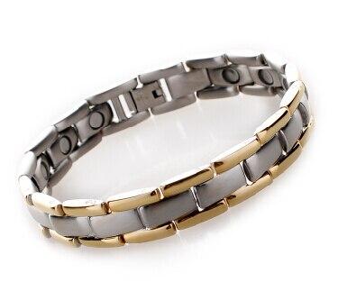 Benefit 4 In 1 Titanium Bio Nagetive Ion Power Germanium Magnet Hologram Energy Magnetic Bracelet Health Energy Balance Mens