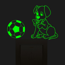 Popular football wall light buy cheap football wall light lots from dog football light switch sticker in wall family decore stickers for kids rooms bedroom home decoration mozeypictures Images