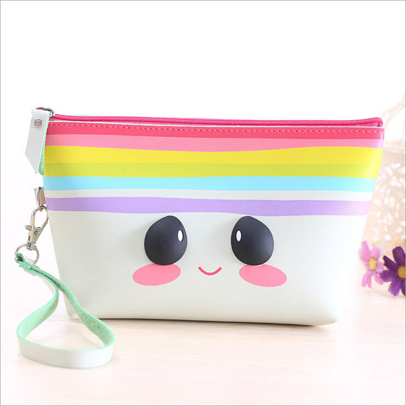 2017 Hot Selling 3D Printing Portable Travel Cosmetic Bag Women Brand New Purse Childrens Kids Cartoon Makeup Organizer Bag