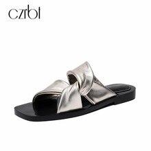 b35a05f8399fc0 CZRBT 2018 D'été Enfant de Mode En Daim Pantoufles Chaussures Femmes  Élégant Confortable Diapositives Dames Appartements Casual .