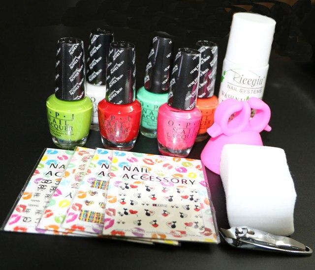 nail polish kit ,OPIL nail polish set ,Manicure set ,6pcs of nail polish kit ,nail polish remover set at free shipping