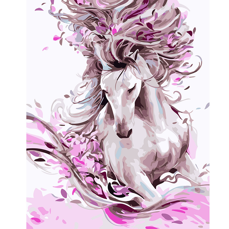 Running Horse Animal Pictures Digital Painting By Numbers New Paint By Numbers For Adults Kids Living Room Decoration With Frame