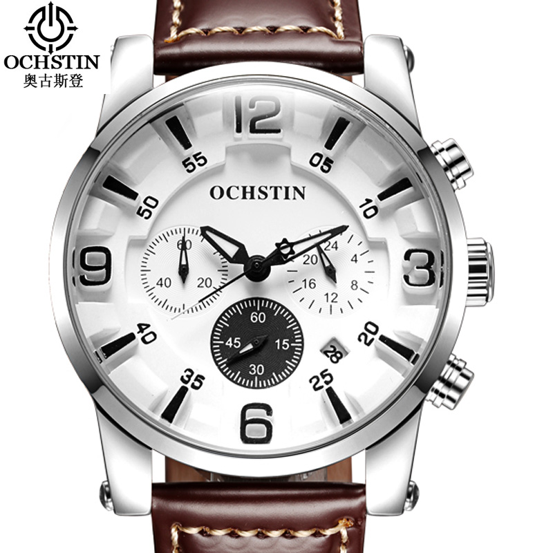 OCHSTIN 3D Mens Watches Top Brand Luxury Men Casual Quartz Watch Men Leather Strap Waterproof Sports Watches Relogio Masculino new listing bellmers brand high grade watches leather strap men waterproof quartz watch relogio masculino sports wristwatches
