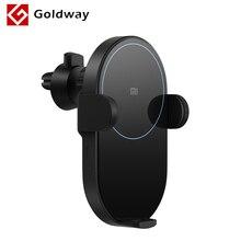 מקורי שיאו mi אלחוטי מטען לרכב 20W מקסימום אוטומטי מהדק USB סוג C מטען 2.5D זכוכית עבור Xiao mi Mi 9 iPhone XS מקס נייד טלפון