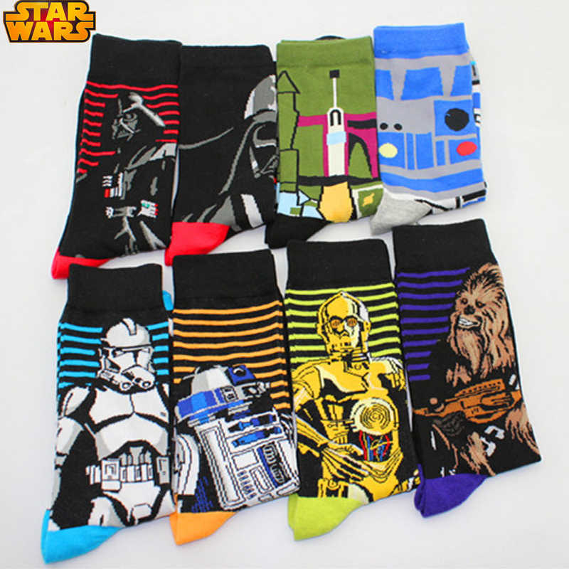 Star Wars The Last Jedi Cosplay Props Sock Cotton Spring Autumn Long Print Flag Socks Women Men Halloween Party Gifts