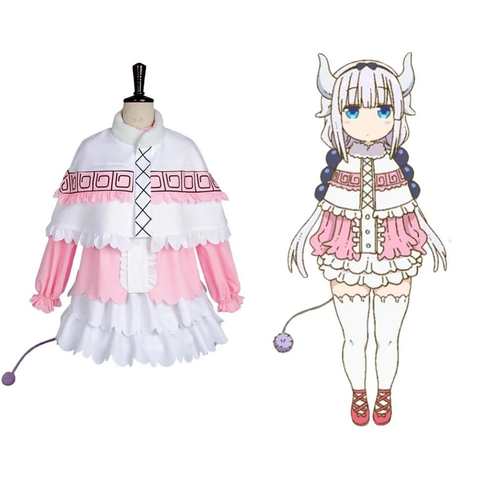 Miss Kobayashi-san Dragon Maid Kanna Kamui Cosplay Costume Outfit Uniform Dress