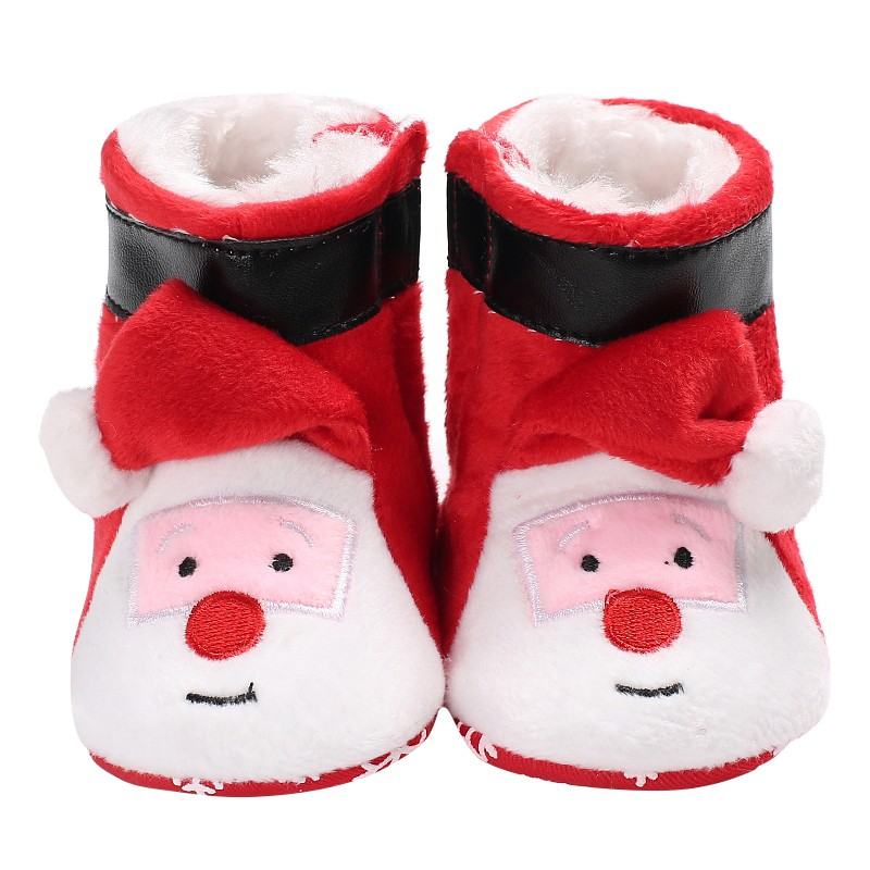 Infant Toddler Boy Girl Snowfield Newborn Christmas Booty Baby Winter Boots Super Warm Fashion Cute Cartoon Claus Baby Shoes S2