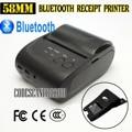 10 шт./лот Мини Беспроводная 58 мм Портативный Bluetooth Тепловой Чековый Принтер + Крышка для Android Mobile_DHL