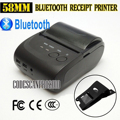 10pcs/lot Mini Wireless 58mm Portable Bluetooth Thermal Printer Receipt + Cover for Android Mobile_DHL