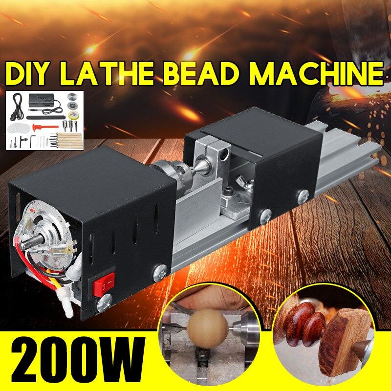 100W tour à bois perles Machine polisseuse Table scie Multi fonctionnelle bricolage tour à bois