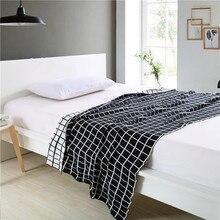 Cozzy черно-Белые Пледы Проверьте 100% Хлопок Трикотажные Бросок Диван Диван Размер 130 х 160 см или 150 х 200 см Реверсивный Кровать Одеяло Дома
