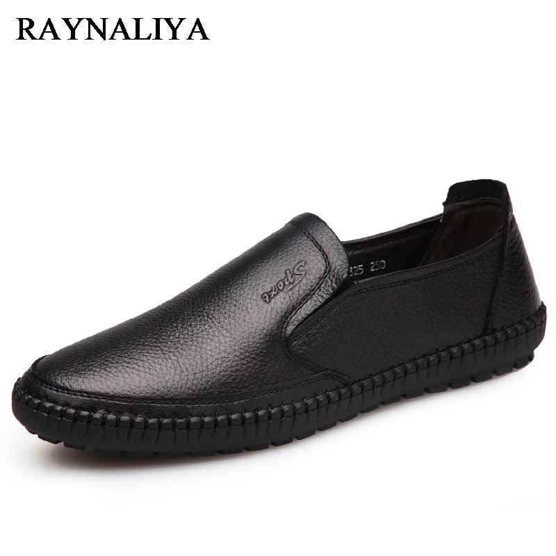 Big Size 37-44 Autumn Men Leather Loafers Slip On Casual Shoes For Mens Moccasins Brand Designer Shoes Leisure Flats BH-B0005 mycolen men loafers leather genuine luxury designer slip on mens shoes black italian brand dress loafers moccasins mens