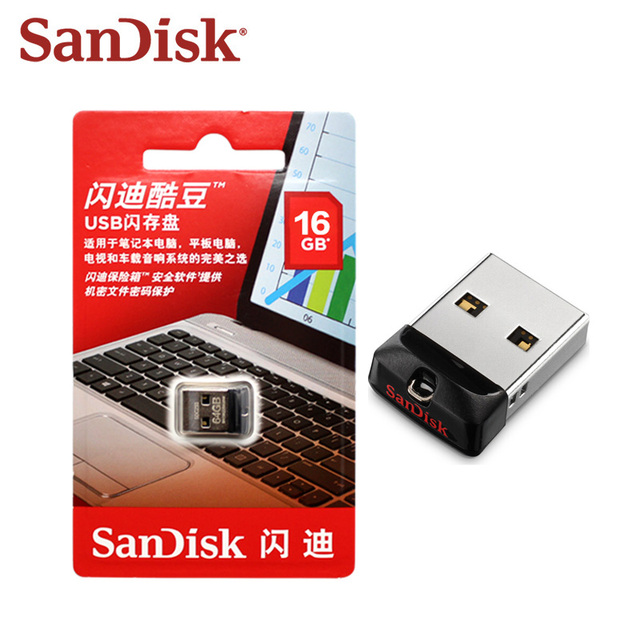 100% Original SanDisk USB 2.0 CZ33 Mini Pen Drive 64GB 32GB 16GB USB Flash Drive Memory Stick U Disk USB Key Pendrive for PC 2
