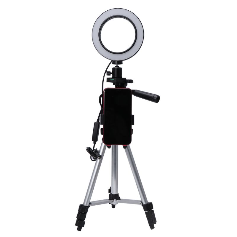 5.7 Led Fill Light Ring Dimmable Tripod Stand Phone Holder Desktop Camera Lamp Youtube Video Makeup Studio Photography Mobile Phone Accessories Mobile Phone Holders & Stands