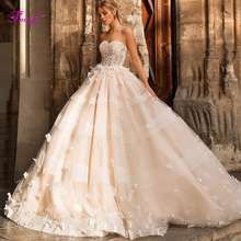 fsuzwel Charming Strapless A-Line Wedding Dress 2019