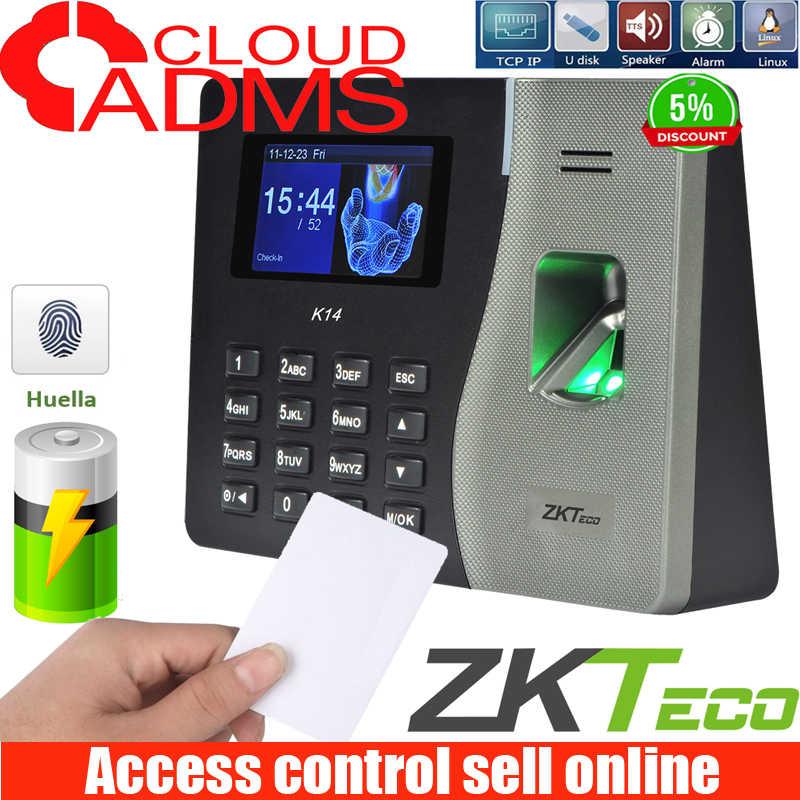 ZKteco  New arrived K14 Biometric fingerprint recognition time attendance 2000 capacity fingerprint recognition time clock